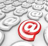 Email At Symbol for Internet Web Communication Message