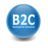 Esfera brillante texto B2C poster