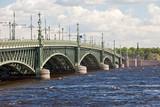 St. petersburg. Troitskyi Bridge over  Neva.. poster