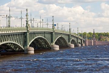 St. petersburg. Troitskyi Bridge over  Neva..