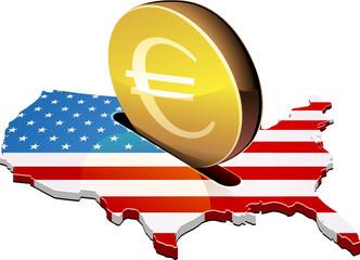 Investir des Euros aux états-unis d'Amérique (détouré)