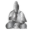 Buddha sculpture, vector