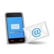 ベクター、スマートフォンと送信メール