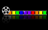 colorful filmstrip; vector