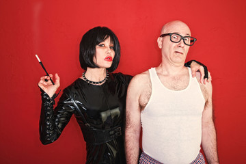 Dominatrix and Scared Man