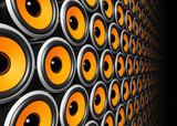Fototapety orange speakers wall