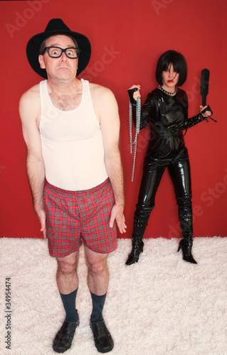 Man Scared of Dominatrix