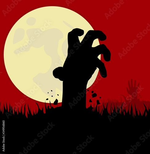 Zombie Hands Silhouette Zombie handZombie Hand Silhouette