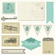 Scrapbook design elements - Vintage Boy Set