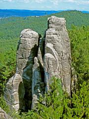 Climbing rock in Bohemian paradise, Czech republic, EU.