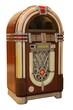 Leinwanddruck Bild - Old Jukebox Music Player