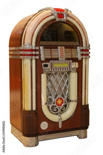 Leinwanddruck Bild Old Jukebox Music Player