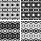 Seamless geometric patterns with rhombuses ornate. poster