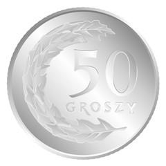 50 groszy moneta