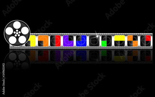 colorful filmstrip; vector