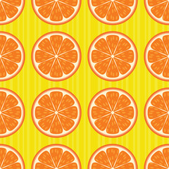 Oranges seamless pattern