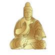 Buddha sculpture, vector