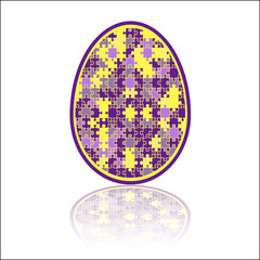 Jigsaw puzzle Easter egg yellow, purple