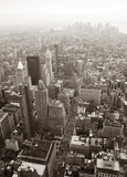 Fotoroleta New York City Manhattan skyline aerial view black and white