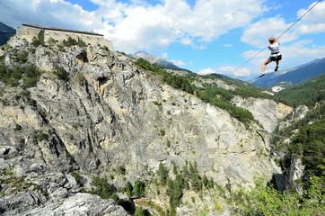 tyrolienne, accrobranche à la montagne