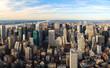 Manhattan panorama aerial view