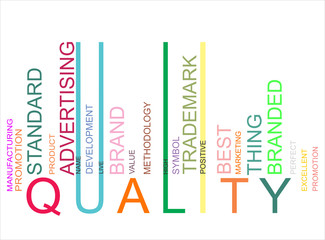 colorful QUALITYtext barcode, vector
