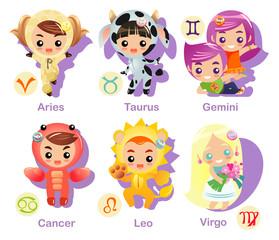 Horoscope symbols set Part 1