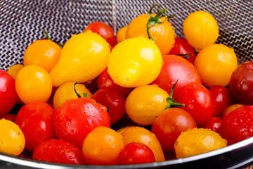Tomatos in a colander