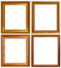Gold and wood frame Collection