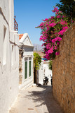 Narrow street in Lindos.Rhodes island, Greece - 34973270