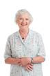 Smiling aged senior lady