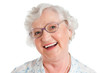 Laughing smiling aged woman