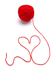 wool knitting heart shape love