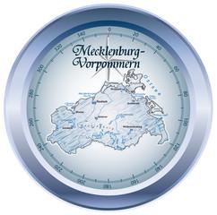 Mecklenburg-Vorpommern Kompass blau in SVG