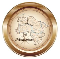 Niedersachsen Kompass in bronze in SVG