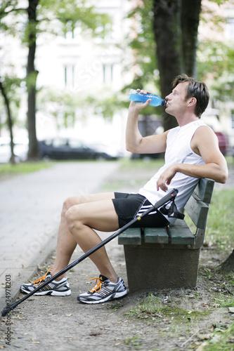 Sportler macht Pause