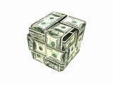 Money box isolated on white