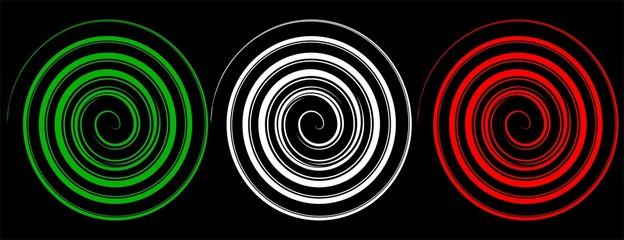Spirali tricolore Italia