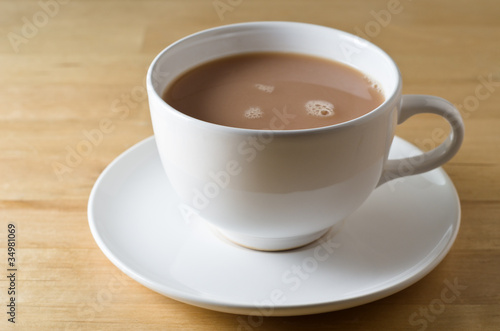 Tea Cup and Saucer on Table