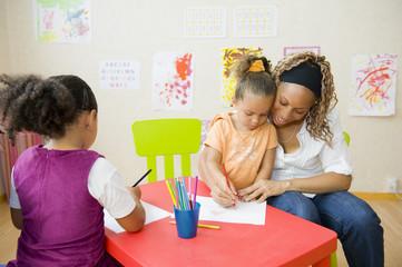 Salle de classe en école maternelle