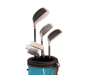 sacca da golf con palline
