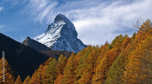 Zermatt (Switzerland) 31.10.2006 autumn on Matterhorn