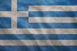 Grunge rugged Greece flag