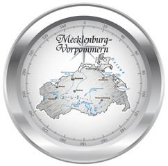 Mecklenburg-Vorpommern Kompass chrom in SVG
