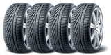 Fototapety Set of winter tires with alurim on white background