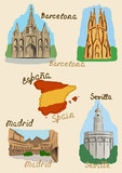 Spanish sights in watercolor