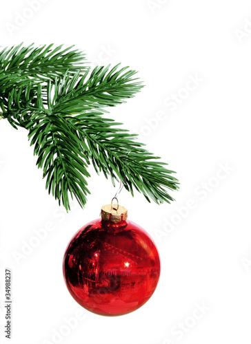 tannenzweig mit weihnachtsschmuck stockfotos und. Black Bedroom Furniture Sets. Home Design Ideas