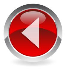 "red vector button ""backward"""