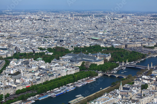 The Grand Palais - aerial view from Eiffel Tower, Paris, France