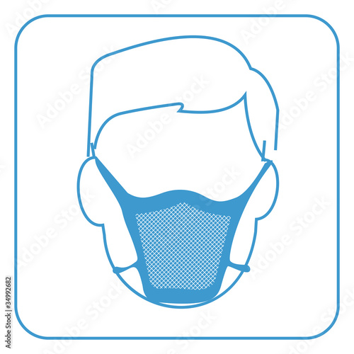 hospital mask-safety equipment  symbol, vector
